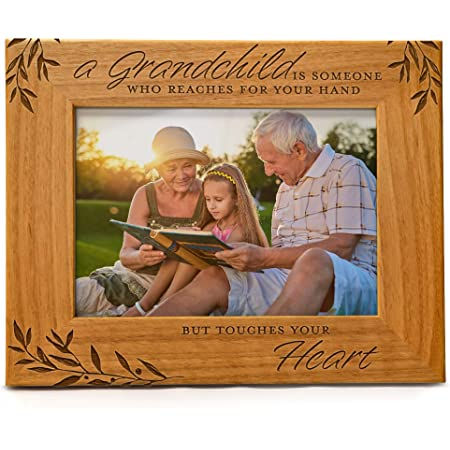 personalised wood photo frame Grandchildren fill the space in your heart