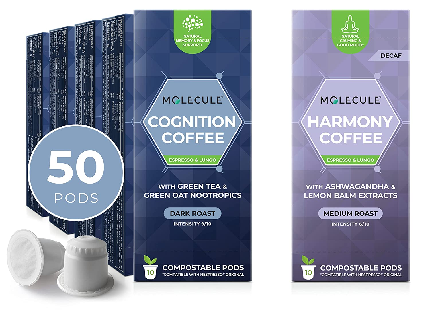 Cognition + Harmony Coffee Mail order 60 Count Super beauty product restock quality top Arabica Bundle Single-O