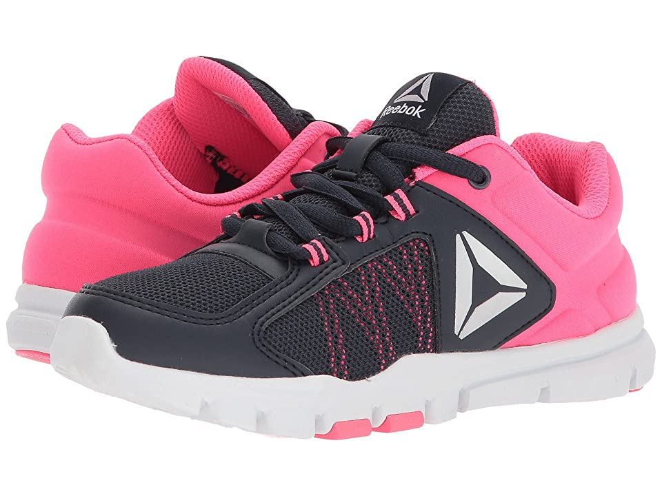 Reebok Kids Yourflex Train 9.0 (Little Kid/Big Kid) (Collegiate Navy/Acid Pink/Silver Metallic) Girls Shoes