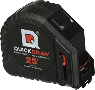 QUICKDRAW DIY Self Marking 25' Foot Tape Measure - 1st Measuring Tape with a Built in Pencil - Best Steel Tape - Power Locking Tape Ruler
