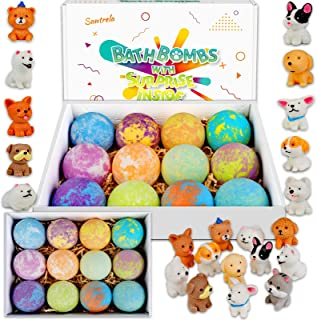 Bath Bombs for Kids with Toys Inside for Girls Boys - 4.2Oz 12 Set Surprise Bubble Bath Fizzies, Kids Safe and Gentle Hand...