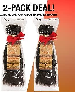 2-PACK DEALS! Aliba Unprocessed Brazilian Virgin Remy Human Hair Weave Natural Straight (14
