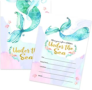 handmade little mermaid birthday invitations