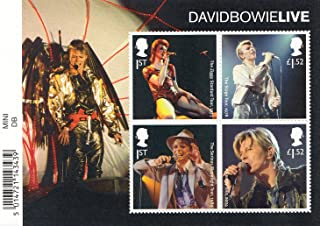 David Bowie Live Stamp Sheet Collectible Postage Stamps Royal Mail 2017