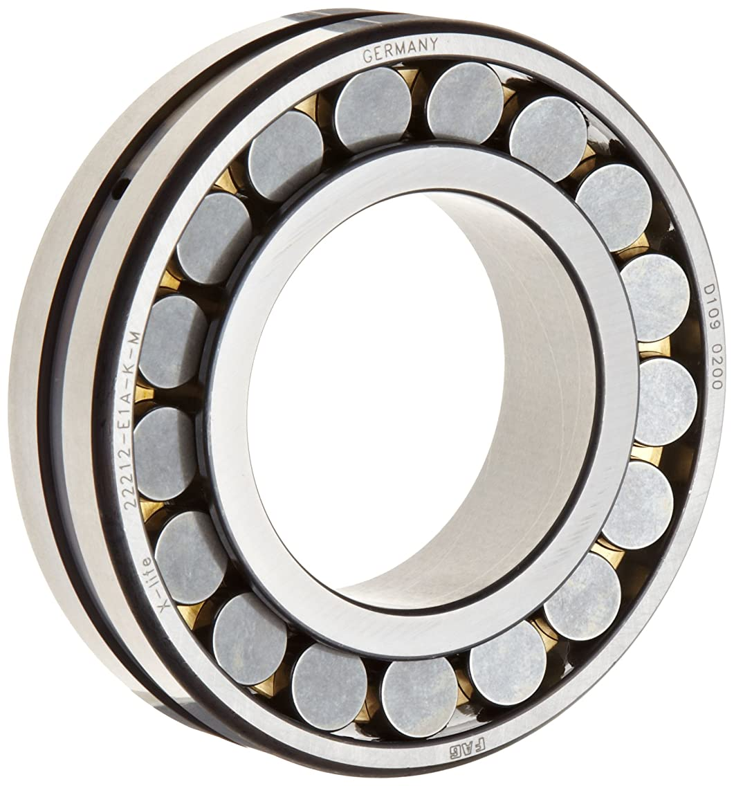 FAG 22318E1AK-M Spherical Roller Bearing, Tapered Bore, Brass Cage, Normal Clearance, Metric, 90mm ID, 190mm OD, 64mm Width, 3600rpm Maximum Rotational Speed, 630kN Static Load Capacity, 610kN Dynamic Load Capacity