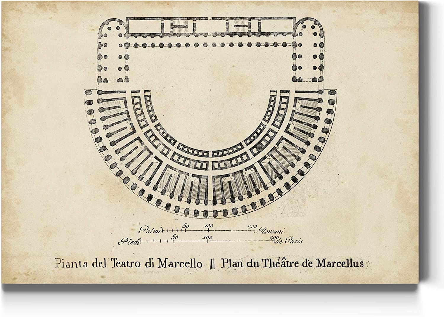 Plan for the Theatre of Ancient Architecture Max High quality new 73% OFF Roman Marcellus O