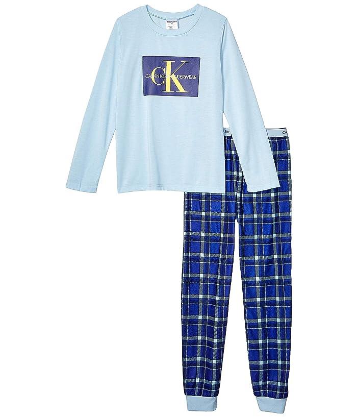 Piece Set w/ Brushed Micro (Little Kids/Big Kids) (Angel Falls/CK Navy Plaid) Boy's Pajama Sets