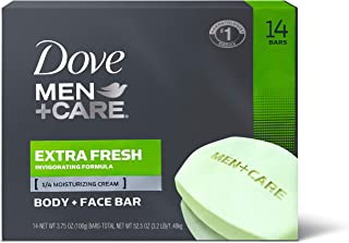 Dove Men+Care Body and Face Bar to Clean and Hydrate Skin Extra Fresh Body and Facial Cleanser More Moisturizing than Bar ...