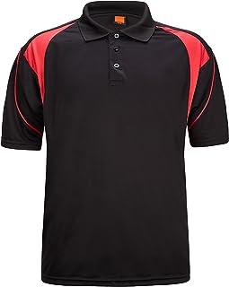 ZITY Men's Polo Shirt Cool Quick-Dry Sweat-Wicking Color Block Short Sleeve Sports Golf Tennis T-Shirt