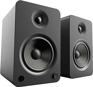 """Kanto YU6 głośniki na regały z Bluetooth i Phono przedwzmacniacz, sterownik kevlar 5,25"""", moc szczytowa 200 W, czarny matowy"""