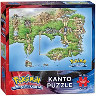 USAopoly Pokemon Kanto Map 550 Piece Puzzle Puzzle