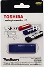 Toshiba USB3.0 Flash Drive 16GB 16G USB 3.0 Flash Disk TransMemory Daichi USB Stick Blue (V3DCH-016G-BL)
