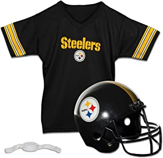 Franklin Sports Pittsburgh Steelers Kids Football Helmet and Jersey Set - NFL Youth Football Uniform Costume - Helmet, Jersey & Pants - Youth M