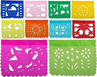 Paper Full of Wishes Toda Ocasion Papel Picado Tissue Banner Small - 4 Feet Long - 10 Small Tissue Panels