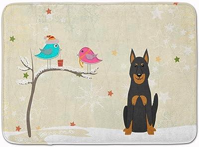 "Caroline's Treasures Christmas Presents Beauce Shepherd Dog, BB2552RUG, Multicolor, 19"" x 27"""