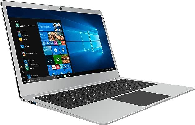 TrekStor Primebook P14 Laptop  35 81 cm  14 1 Zoll  Full HD Display  Intel Pentium N4200  64GB interne HDD 128GB SSD  4GB RAM  Win 10 Home  silber
