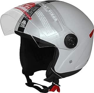 JMD HELMETS Grand Open Face Helmet (Grey, Large)