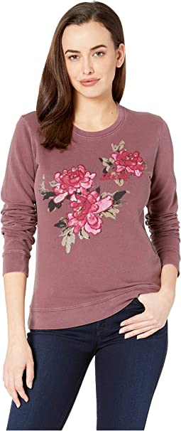 Lucky Floral Pullover Sweatshirt