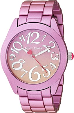 BJ00706-02 - Pink & Orange Stainless Steel Case Watch