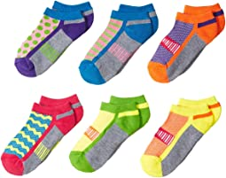 Jefferies Socks Sporty Half Cushion Low Cut 6-Pack (Toddler/Little Kid/Big Kid)
