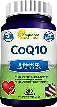 CoQ10 (400mg Max Strength, 200 Capsules) - High Absorption Vegan Coenzyme Q10 Powder - Ubiquinone Supplement Pills, Extra ...