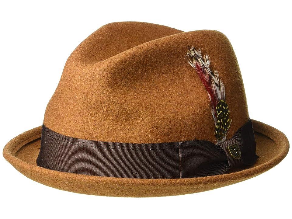 Brixton Gain Fedora (Heather Coffee) Traditional Hats
