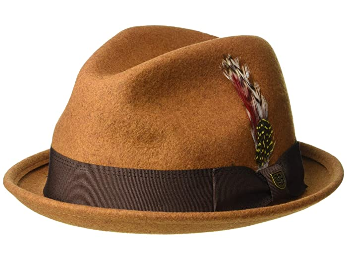 Brixton Gain Fedora (Heather Coffee) Traditional Hats