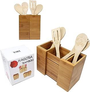 Best bamboo kitchen utensil holder Reviews