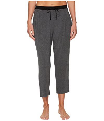 Donna Karan Modal Spandex Jersey Capri Pants (Charcoal Heather) Women