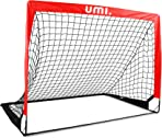 UMI Amazon Brand Football Goal – Portable Football Net – 4'x3'