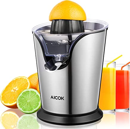Aicok Citrus Juicer Electric 100W Stainless Steel Citrus Juicer Squeezer with Anti-drip, Ultra