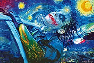 """No Frame Starry Night Joker Abstract Oil Painting Printed Poster,Modern Comics Poster Picture for Wall Decoration Poster Frameless Gift 12""""x 18"""" (30cm x 46cm)-LT-057"""