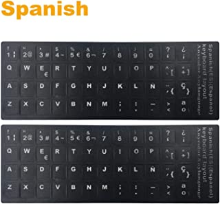 keyboard stickers spanish