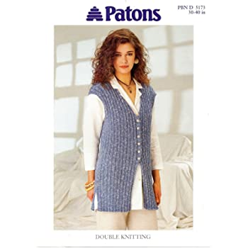 """Knitting Pattern For DK ladies Dress With Back Opening  30//40"""""""