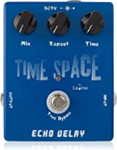Caline Guitar Effect Pedal CP-17 Time Space Echo Electric Digital Delay Pedal Aluminum Alloy Housing with 3 Switches