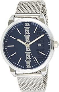 Just Cavalli Modern Blue Dial Stainless Steel Analog Watch For Men, JC1G141M0065