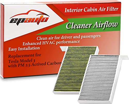 wholesale EPAuto CP681 (1107681-00-A) sale Cabin Air Filter includes Activated Carbon Replacement for Tesla 2021 Model 3 / Model Y outlet online sale