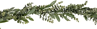 Vita Domi 6 Foot Artificial Mixed Eucalyptus Real Looking Garland for Home Decor, Weddings, Parties, Tables, Mantles