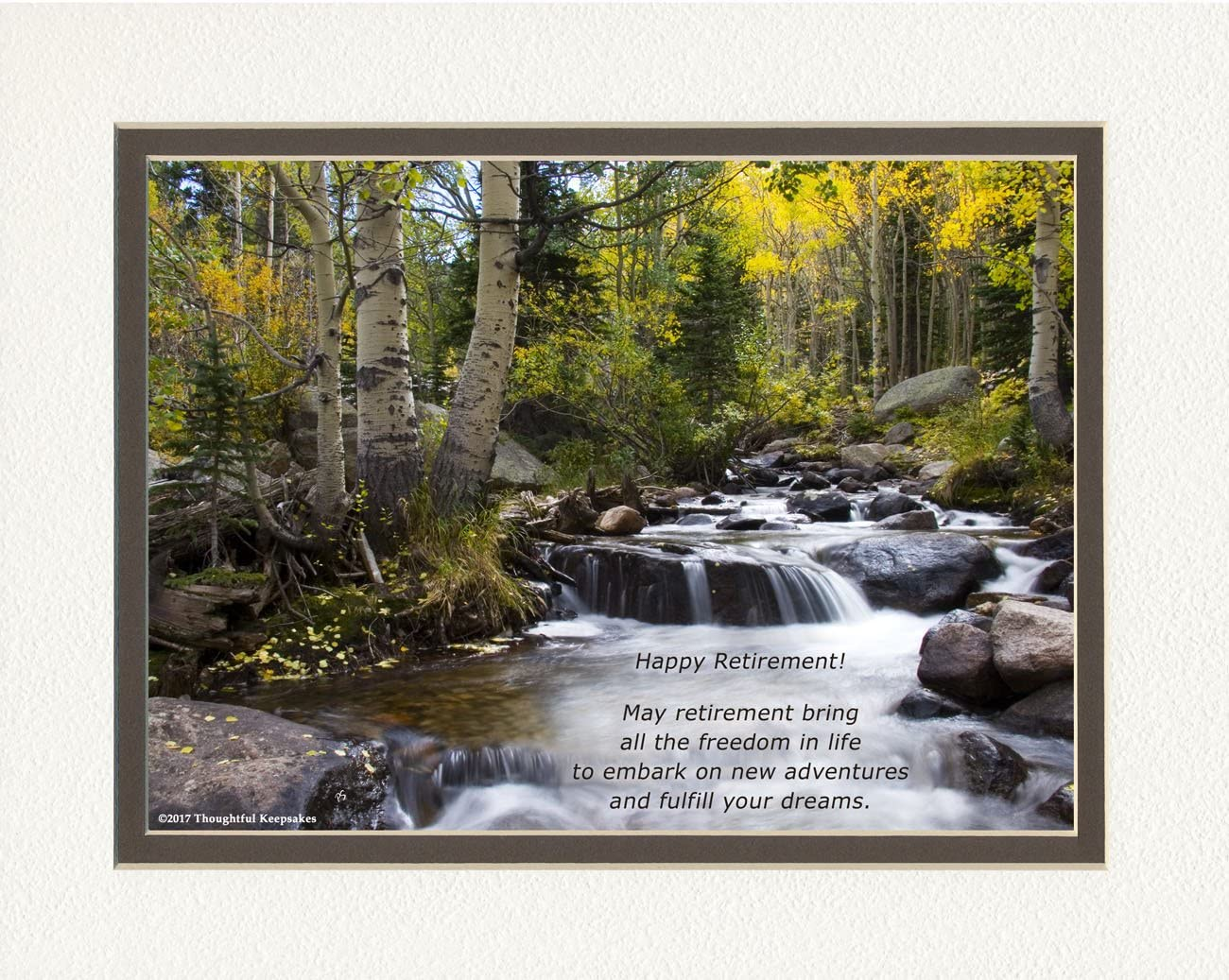 Retirement Gift. River Photo Attention brand with