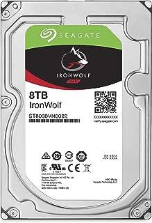 "Seagate IronWolf 3.5"" 8TB 内蔵ハードディスク HDD 3年保証 6Gb/s 256MB 7200rpm 24時間稼動 PC NAS 用 RVセンサー ST8000VN0022"