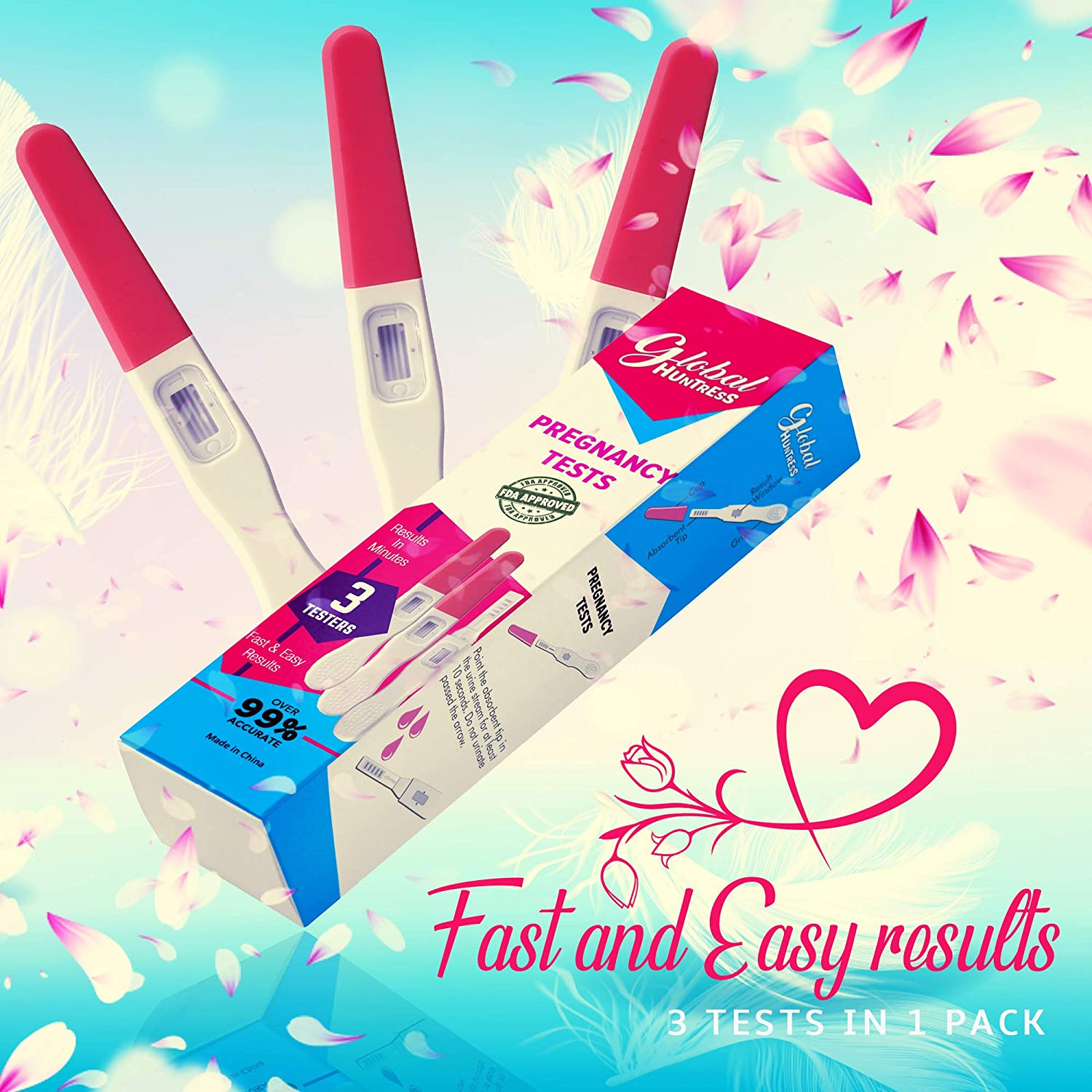 at-Home Early Pregnancy Test Kit | Early Detection 3 Tests Included - Accurate & Easy Response Results
