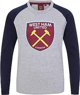 Official Soccer Gift Kids Crest Long Sleeve Raglan T-Shirt
