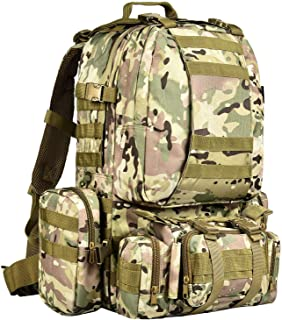 CVLIFE Outdoor Built-up Military Tactical Backpack Army Rucksacks 3 Day Assault Pack Combat Molle Backpack Pouch for Hunti...