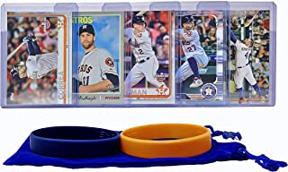 Houston Astros Baseball Cards: George Springer, Jose Altuve, Alex Bregman, Carlos Correa, Collin McHugh ASSORTED Trading Card and Wristbands Bundle
