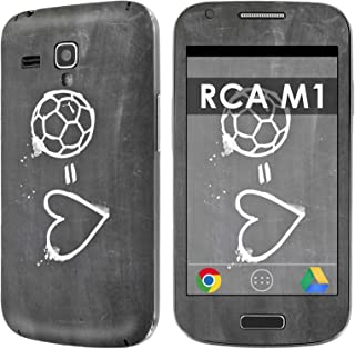 RCA M1 Decal Mania Skin Sticker [Matching Wallpaper] - [Soccer Heart] for RCA M1 [4