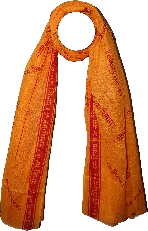Odishabazaar Large Meditation Scarf Wrap Yoga Prayer Shawl - Om Namah Shivaya(70x44 inch)