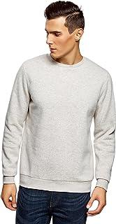 oodji Ultra Men's Basic Crew Neck Sweatshirt