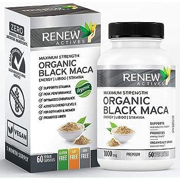 Amazon.com: Organic Black MACA Dietary Supplement Pills- Vegan Non GMO Certified – 1000mg of
