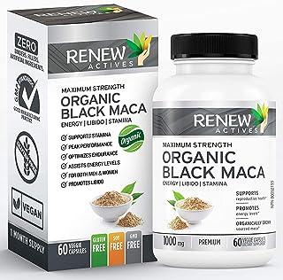 Organic Black MACA Dietary Supplement Pills- Vegan, Non GMO Certified – 1000mg of Gelatinized Peruvian Black Maca Root Pow...