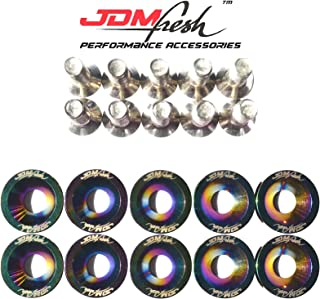 JDMFresh - Neo Chrome CNC Billet Aluminum Engine Bay Fender Washer Bolt Dress Up Kit for 6mm